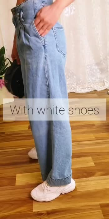Straight leg indigo denim #trendingvideo #fashiontrends
