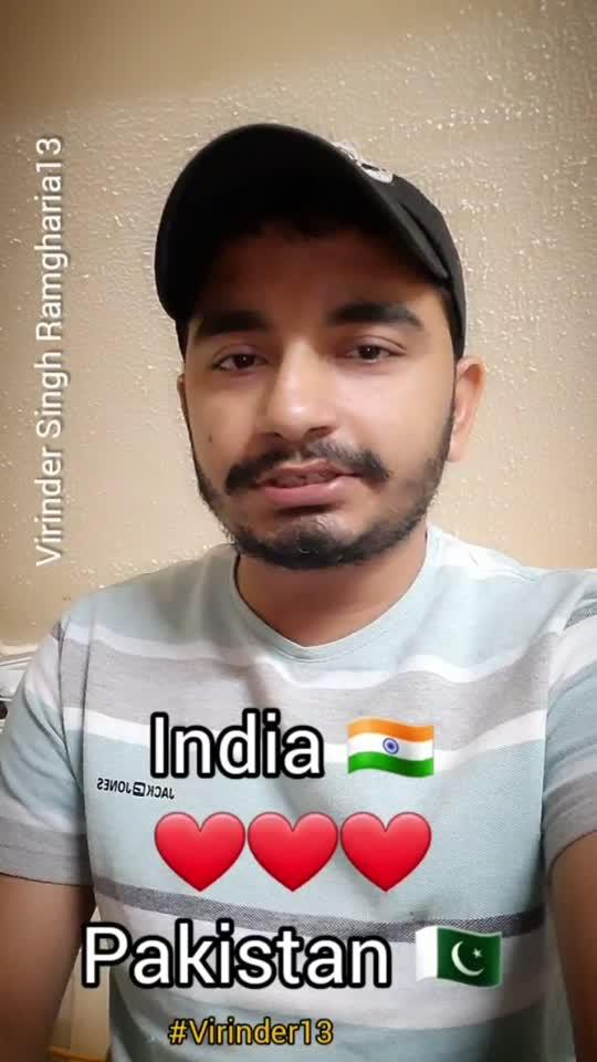 India Pakistan #Virinder13 #india #pakistan #punjabistatus #trendingvideos #shayari #latestvideos #rooposostar