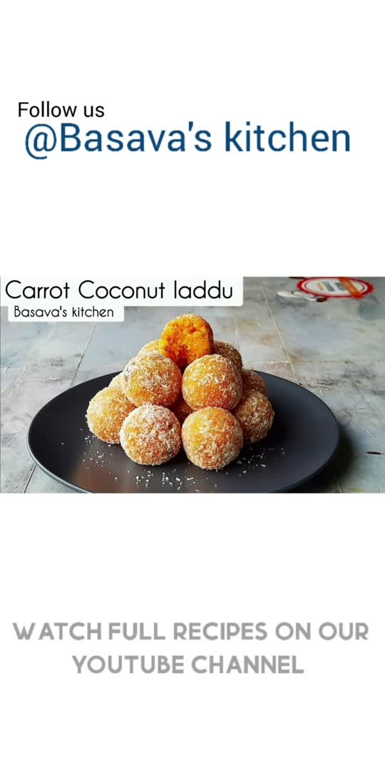 Carrot Coconut Laddu Recipe   Healthy sweet watch full video on YouTube @Basava's Kitchen                  #food  #foodie  #foodporn  #cooking  #instafood  #homemade  #yummy  #recipes  #foodphotography #foodstagram #delicious  #foodblogger #healthyfood  #healthy  #tasty  #foodlover #instagood  #chef  #homecooking  #recipeoftheday #cook  #yum  #baking  #dessert  #lunch  #bhfyp  #Basavaskitchen  #tiktok  #instagram  #roposoapp  #bollywood  #tiktokindia #india  #love  #viral  #trending  #like  #roposolove  #mumbai  #follow  #sharechat  #roposostar  #delhi  #photography  #twitter  #facebook  #litlotapp  #foryou  #foryoupage  #reels  #instadaily  #roposoindia  #hollywood  #fun  #happy  #bhfyp #Basavaskitchen #food #recipe  #mywich #Mywich #bappamorya #tawatricks  #food #foodie #foodporn #cooking #instafood #homemade #yummy #recipes #foodphotography #foodstagram #delicious #foodblogger #healthyfood #healthy #tasty #foodlover #instagood #chef #homecooking #recipeoftheday #cook #yum #baking #dessert #lunch #bhfyp #Basavaskitchen  #tiktok #instagram #roposoapp #bollywood #tiktokindia #india #love #viral #trending #like #roposolove #mumbai #follow #sharechat #roposostar #delhi #photography #twitter #facebook #litlotapp #foryou #foryoupage #reels #instadaily #roposoindia #hollywood #fun #happy #bhfyp #Basavaskitchen #food #recipe #mywich #Mywich