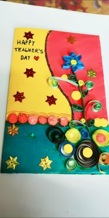 #greetingcard #creativespace #creative-channel #creative #talent #handmadegifts #handmadeproducts ##teachersday