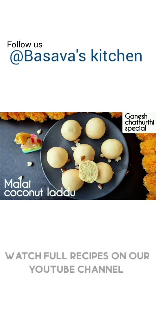 Malai Coconut Laddu   Ganesh chathurthi special   Basava's kitchen                  #food #foodie #foodporn #cooking #instafood  #homemade  #yummy  #recipes  #foodphotography #foodstagram #delicious  #foodblogger #healthyfood  #healthy  #tasty  #foodlover #instagood  #chef  #homecooking  #recipeoftheday #cook #yum  #baking  #dessert  #lunch  #bhfyp  #Basavaskitchen  #tiktok  #instagram  #roposoapp #bollywood  #tiktokindia #india  #love  #viralvideo  #trending  #like #roposolove #mumbai  #follow  #sharechat  #roposostar #delhi  #photographylovers  #twitter #facebook  #litlotapp  #foryou  #foryoupage #reels  #instadaily  #roposoindia #hollywood  #fun  #happy  #bhfyp #Basavaskitchen #food #recipe  #mywich #Mywich   #ganeshchaturthi #vinayakachaturthi #vinayakachavithi #ganesh #ganapathibappamoria #ganapathi #vinayaka #ganapati #chathurthi